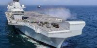 China estrena su flamante portaviones, el HMS Queen Elizabeth, en el Mar de la China Meridional.